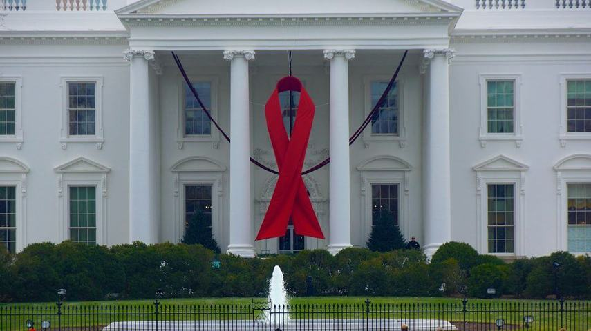 Full whitehouse aids ribbon
